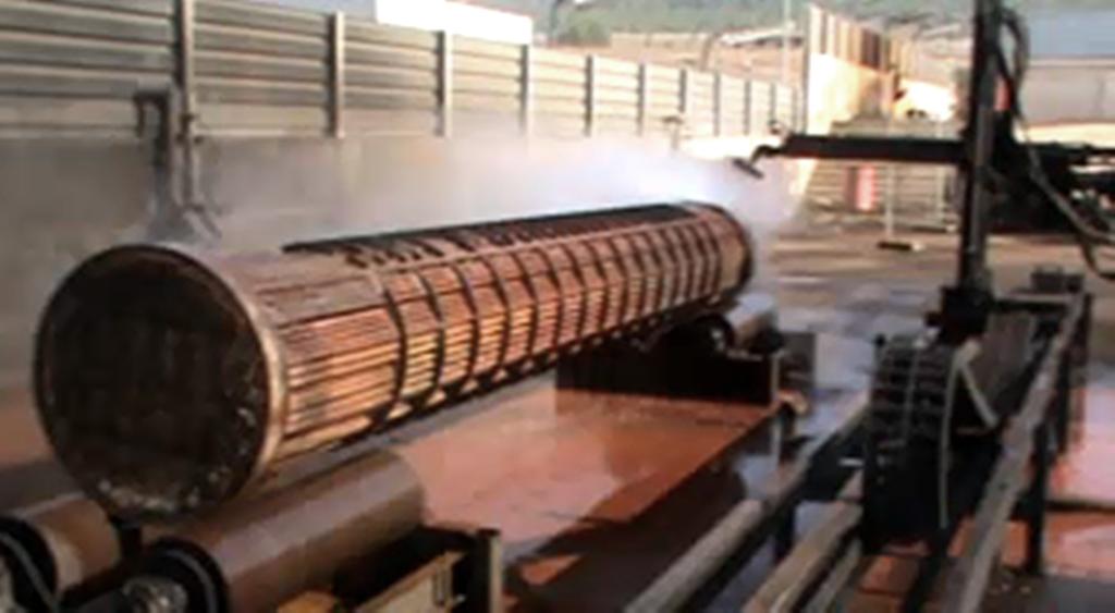 HGL Maquina de limpieza de exteriores haces tubulares
